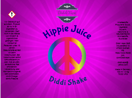 Diddi Vape - Hippie Juice - 100ml - 2 Nik-Shots