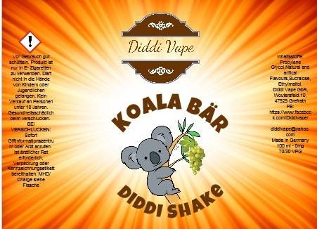 Diddi Vape - Koala Bär - 100ml - 2 Nik-Shots