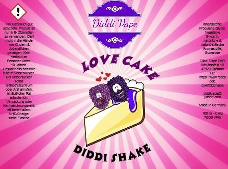 Diddi Vape - Love Cake - 100ml - 2 Nik-Shots