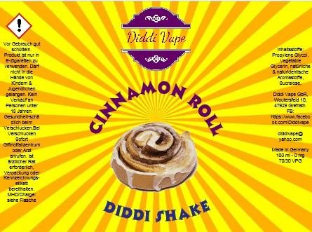 Diddi Vape - Cinnamon Roll - 100ml - 2 Nik-Shots